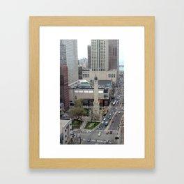 Chicago Water Tower Tilt Shift Color Photograph Framed Art Print