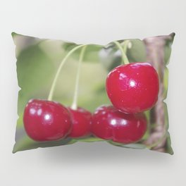 Cherries, fresh on the tree Pillow Sham