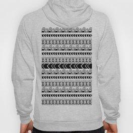 Geometrical tribal black white shapes pattern Hoody