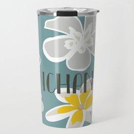 Plumeria Flower Travel Mug
