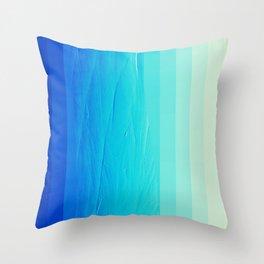 Blue Buffer Throw Pillow