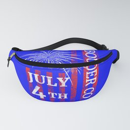 Boulder Colorado 4th of July Independence Day Fanny Pack