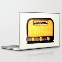 radio Laptop & iPad Skins featuring Old Radio by Mr and Mrs Quirynen