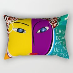 La couleur de mes rêves Pop Art Portrait Rectangular Pillow