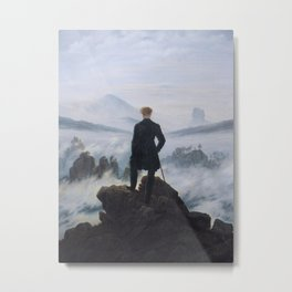 Wanderer Above the Sea of Fog Metal Print