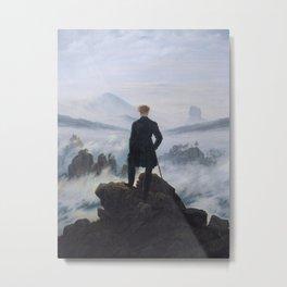 Wanderer Above the Sea of Fog Metal Print