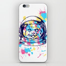 Space Kitty - Catstraunaut iPhone Skin