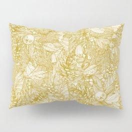 forest floor gold ivory Pillow Sham