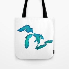 watercolor Great Lakes Tote Bag