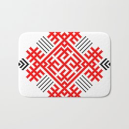 Rodimich - Antlers - Slavic Symbol #1 Bath Mat