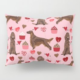 Irish Setter valentines day dog breed cupcakes love hearts setters gifts Pillow Sham