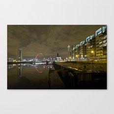 Glasgow Squinty Bridge River Clyde Canvas Print