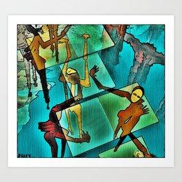 """The Adventures of Rain Dance Maggie"" Art Print"