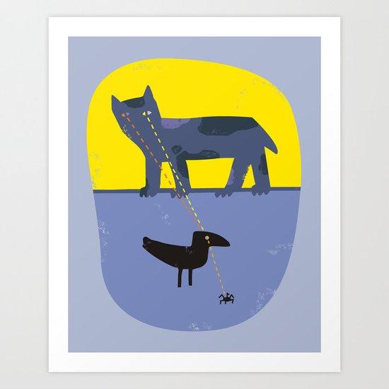 Scan Chain Art Print