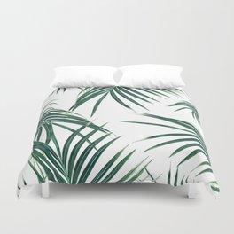 Green Palm Leaves Dream #2 #tropical #decor #art #society6 Duvet Cover