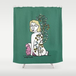 Woman with Gala Shower Curtain