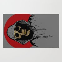 returns Area & Throw Rugs featuring Skullboy Returns by Matthew Dunn