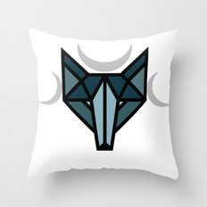 By the moon Throw Pillow