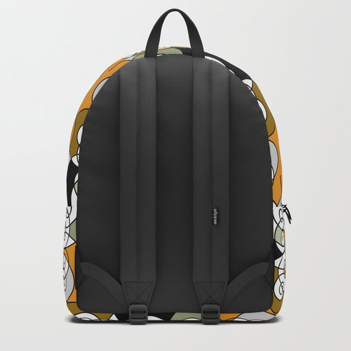 Abstraction . Yellow black spiral. Backpack