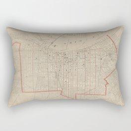 Vintage Map of Louisville KY (1880) Rectangular Pillow