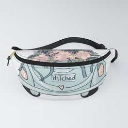 Hitched-Wedding print Fanny Pack