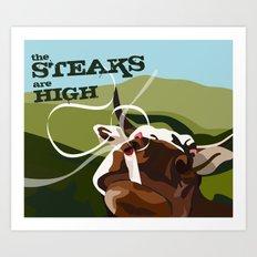 Steaks Are High Art Print