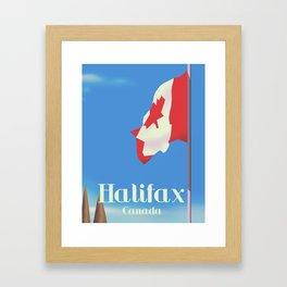 Halifax Canada travel poster Framed Art Print