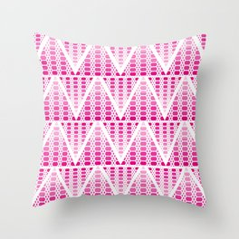 Pink Patterned Triangles Throw Pillow