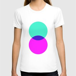 Electric Turquoise + Magenta T-shirt
