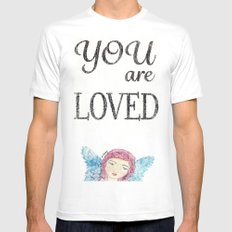 You are Loved White Mens Fitted Tee MEDIUM