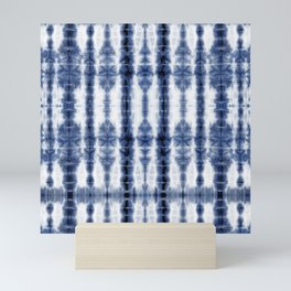Tiki Shibori Blue Mini Art Print