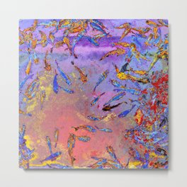 Fish In A Chinese Pond Metal Print