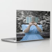 reading Laptop & iPad Skins featuring Reading by Maria Heyens