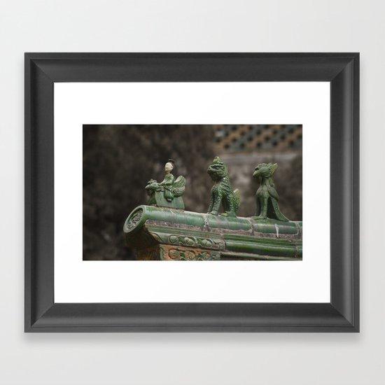 Queueing Framed Art Print