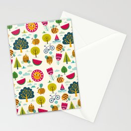 Summer and Bees Stationery Cards
