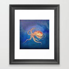 Octopus Blue Framed Art Print