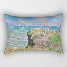 Claude Monet - Cliff Walk At Pourville Rectangular Pillow