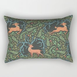 Deer, king of the forest among green fern and leaves Rectangular Pillow