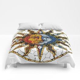 Celestial Mosaic Sun and Moon COASTER Comforters