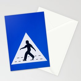 Omani pedestrian crossing sign Stationery Cards
