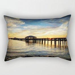 Biloxi Bay Sunset Rectangular Pillow