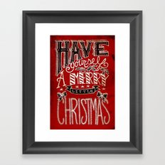 Have Yourself A Merry Little Christmas Framed Art Print