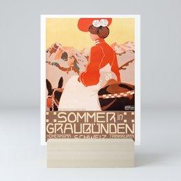 1905 Summer In Grisons Switzerland Travel Poster Mini Art Print