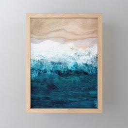 Watercolour Summer beach III Framed Mini Art Print