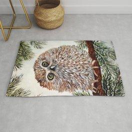 Baby Pygmy Owl Rug