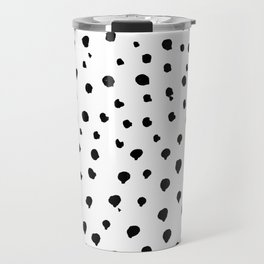 Dalmatian dots black Travel Mug