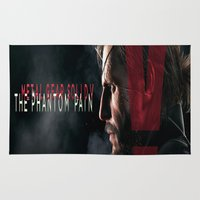 metal gear Area & Throw Rugs featuring metal gear solid V  , metal gear solid V  games, metal gear solid V  blanket by Eirarose