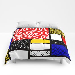 Mondrian in a Memphis Style Comforters