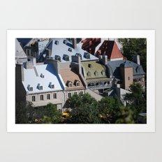 Roof Tops Art Print