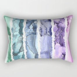 Colorful Painted Stripes Rectangular Pillow